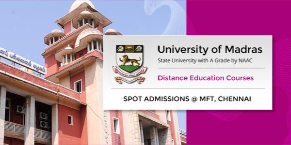 Madras University Distance Karnataka Centres | Higher Study